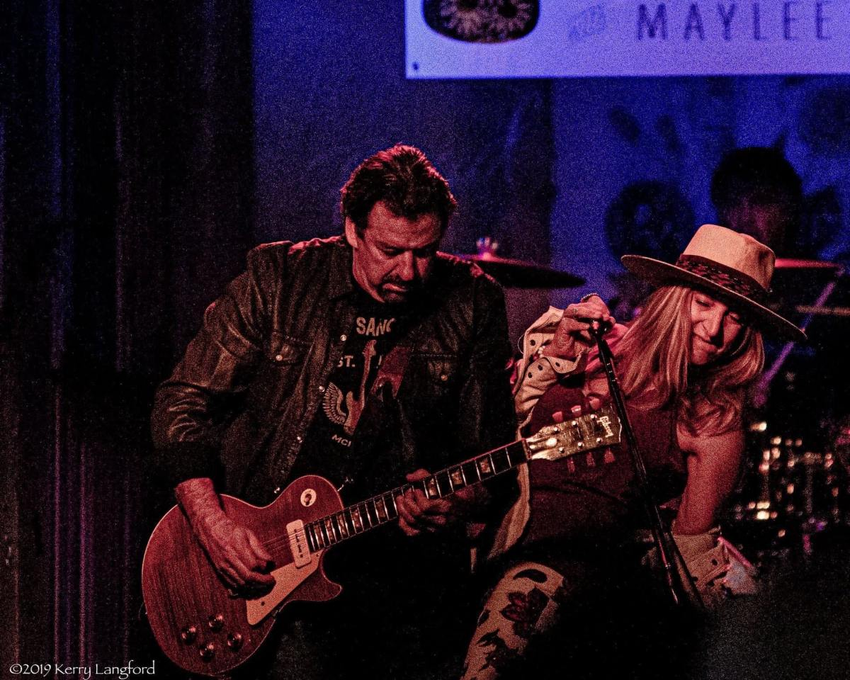 me and maylee on stage