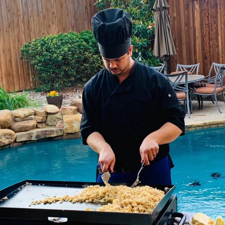 traveling hibachi chef