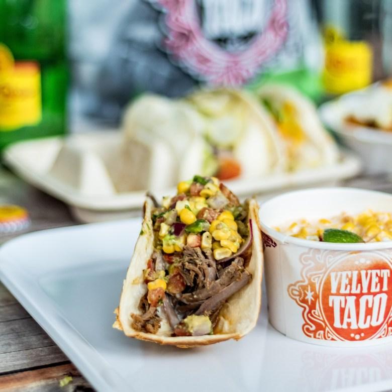 Slow-Roasted Angus Beef Velvet Taco