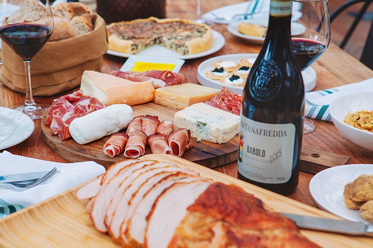 Eataly's Meat and Cheese spread