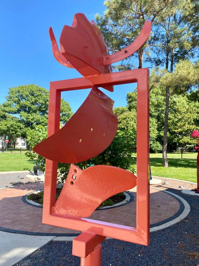 close up of jerry dodd sculpture