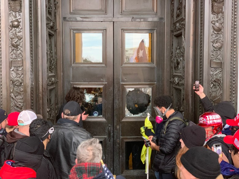the riot reaches the capitol door