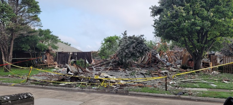 the site of the plano home explosion, the morning after the blast.