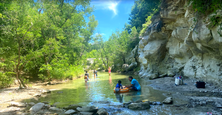 a great spot to stay cool! west rowlett creek at limestone quarry park in frisco, texas