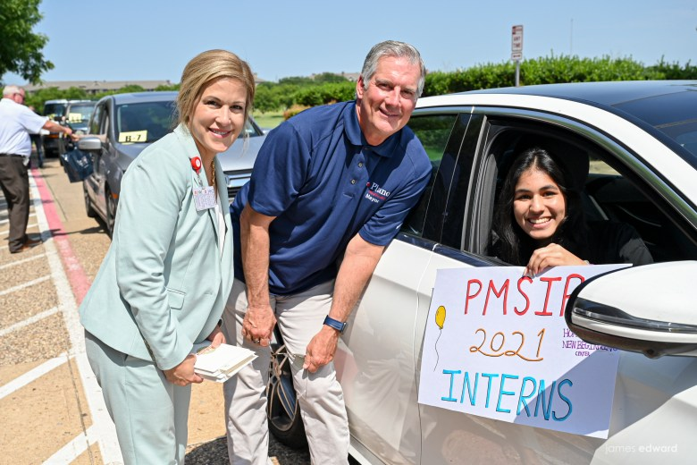 plano mayor john muns pictured with one of the 80+ teens who participated in the plano mayor's summer internship program were celebrated during a drive-by parade