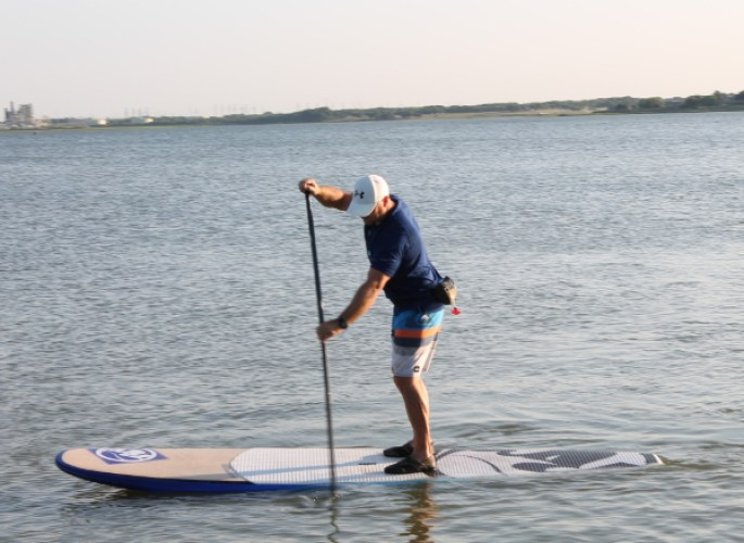 paddleboard on one of the texas lakes closest to collin county: lake ray hubbard! | courtesy of lake ray hubbard's website