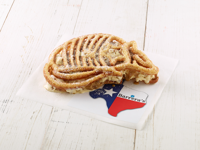 James Barrera's Armadillo Cookie Butter Ice Cream Sandwich for the great tex choice awards!  |  courtesy of the Texas State Fair