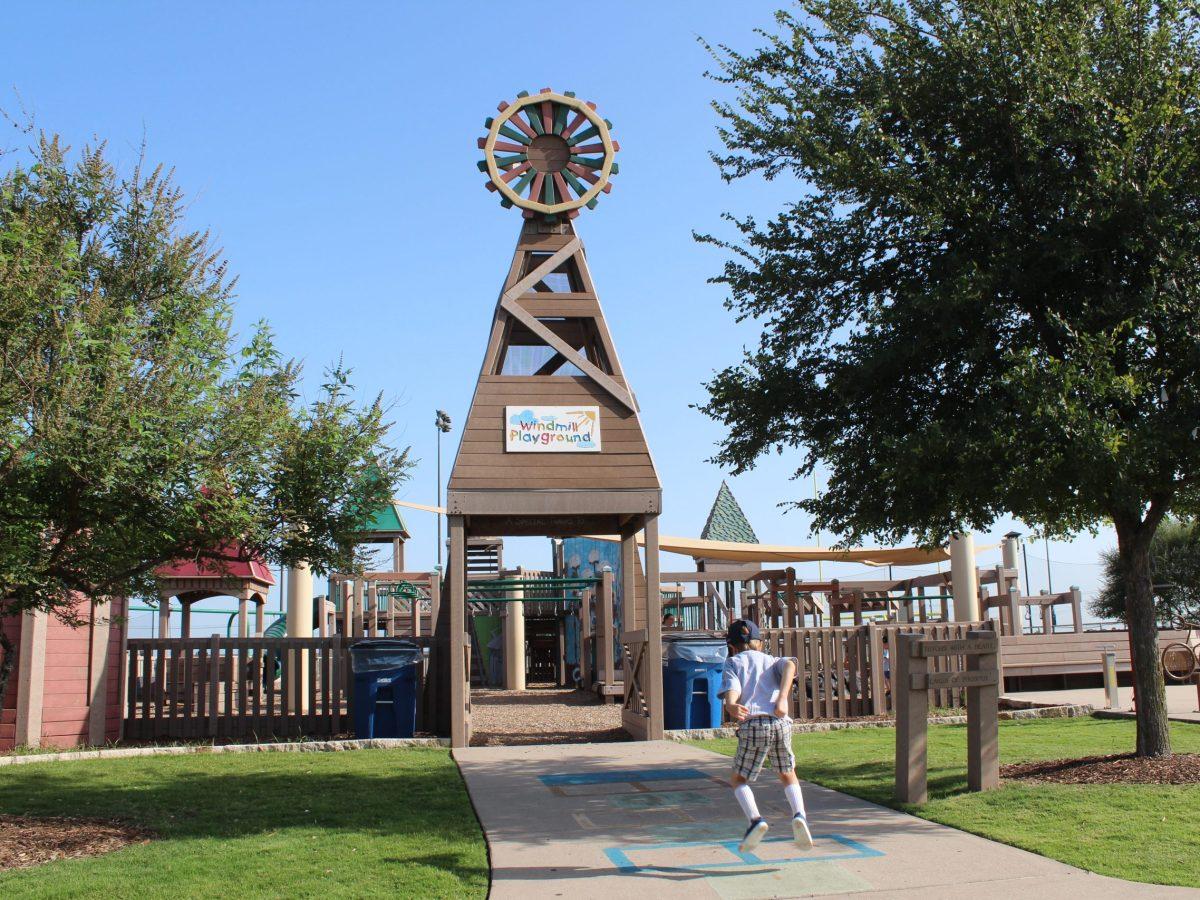 windmill playground, frontier park, prosper, best playgrounds
