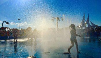 splash pad, allen, celebration park