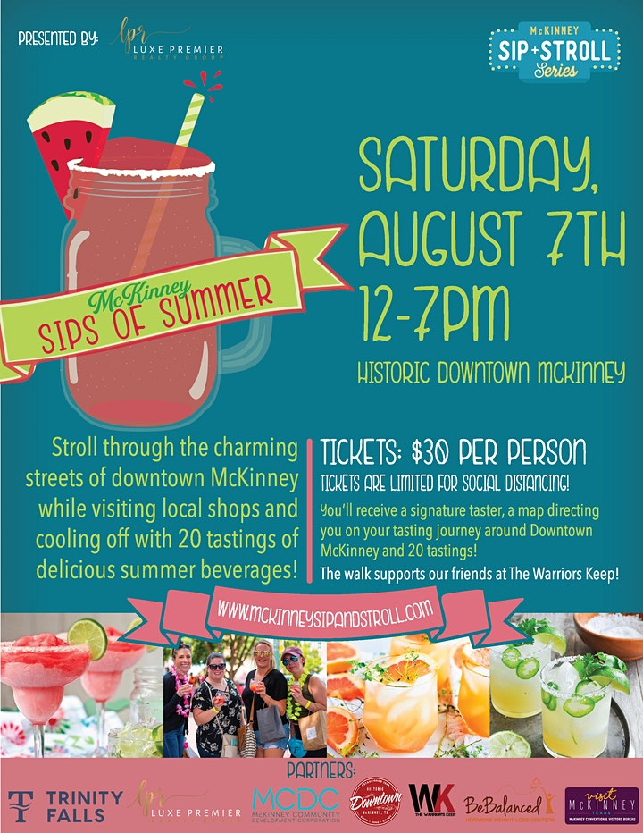 mckinney sips of summer is a perfect thing to do this weekend to say farewell to summer.