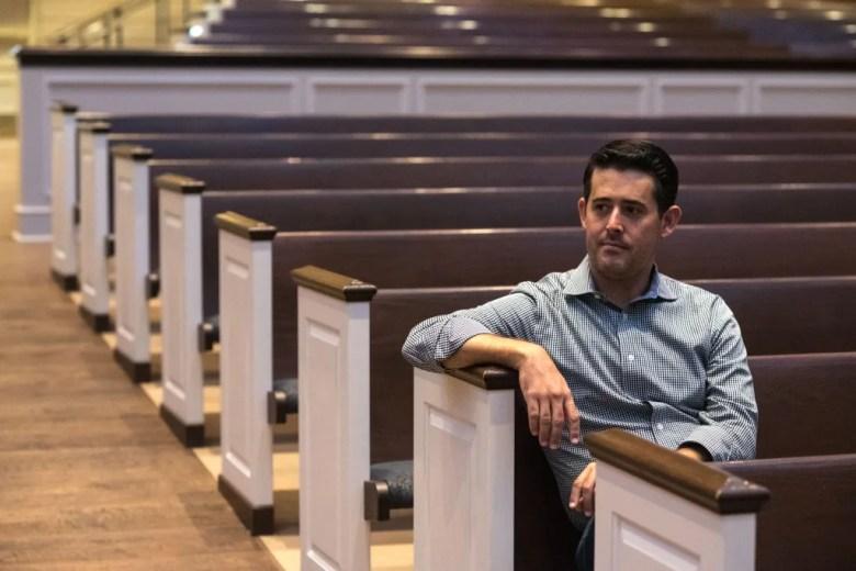 rev. arthur jones sits in the sanctuary of st. andrew united methodist church.   photo by jordan jarrett