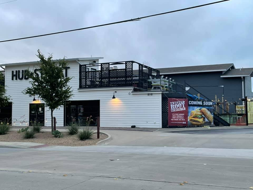 twisted root burger co. is expected to open in the space previously occupied by hub streat   via monica mullins of the downtown plano facebook group.
