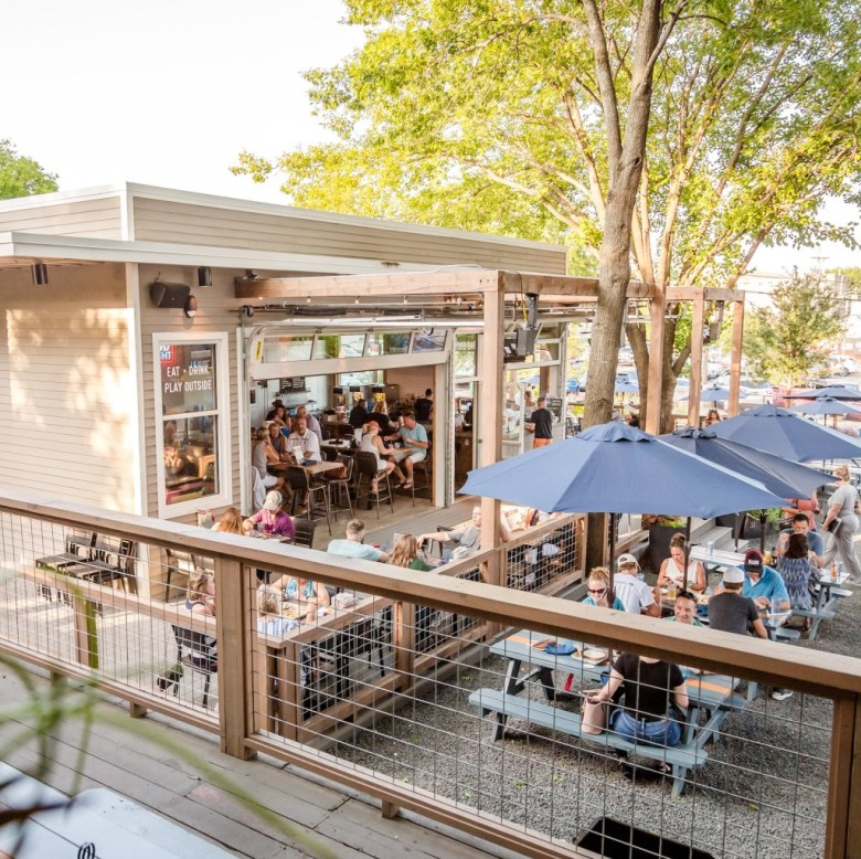 the yard has one of the most fun patios in mckinney! | courtesy of the yard
