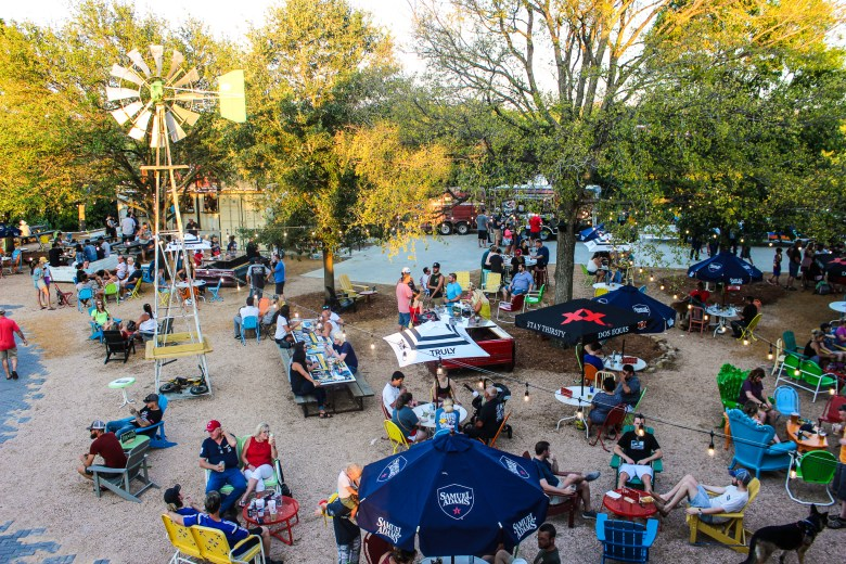 the truck yard in the colony is a great food truck park in collin county.