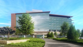 A rendering of the expansion to Children's Health, Children's Medical Center Plano.