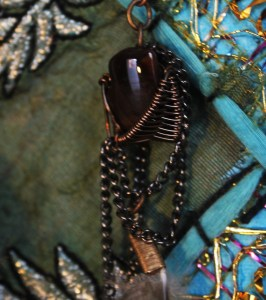 wire wrap earrings fire agate feather