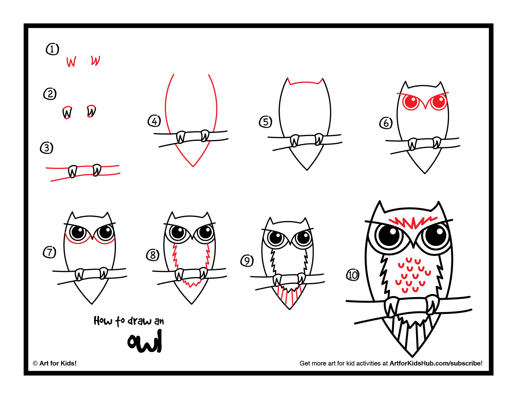 Video how to draw an owl for kids local santa cruz for How to draw a two story house step by step