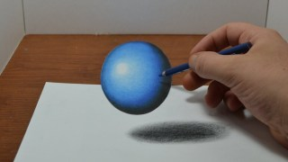 Video : How to Draw a Floating, Levitating Ball - Anamorphic Trick Art