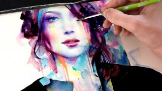 Video: Time Lapse Watercolor Portrait