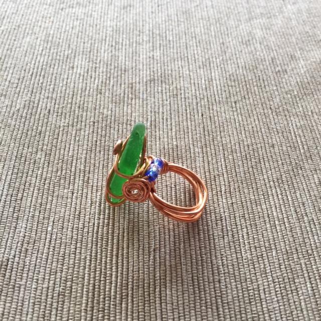 Sea Green Wirework Ring