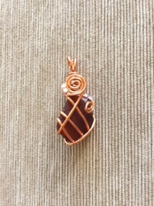 Deep Brown Wirework Pendant
