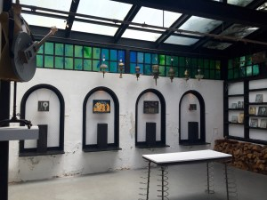 The Felix Kulpa Gallery has two indoor rooms.