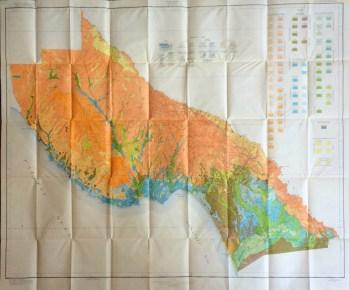Colorful 1935 Santa Cruz Map