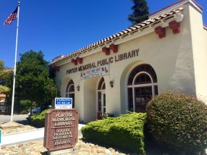 The Porter Memorial Library was built in 1913 and is now a local historical landmark and museum for Soquel memorabilia.