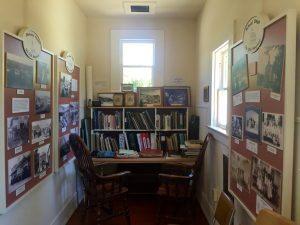 The library has a small museum featuring photographs, scrapbooks, and historical books about Soquel and Santa Cruz County.