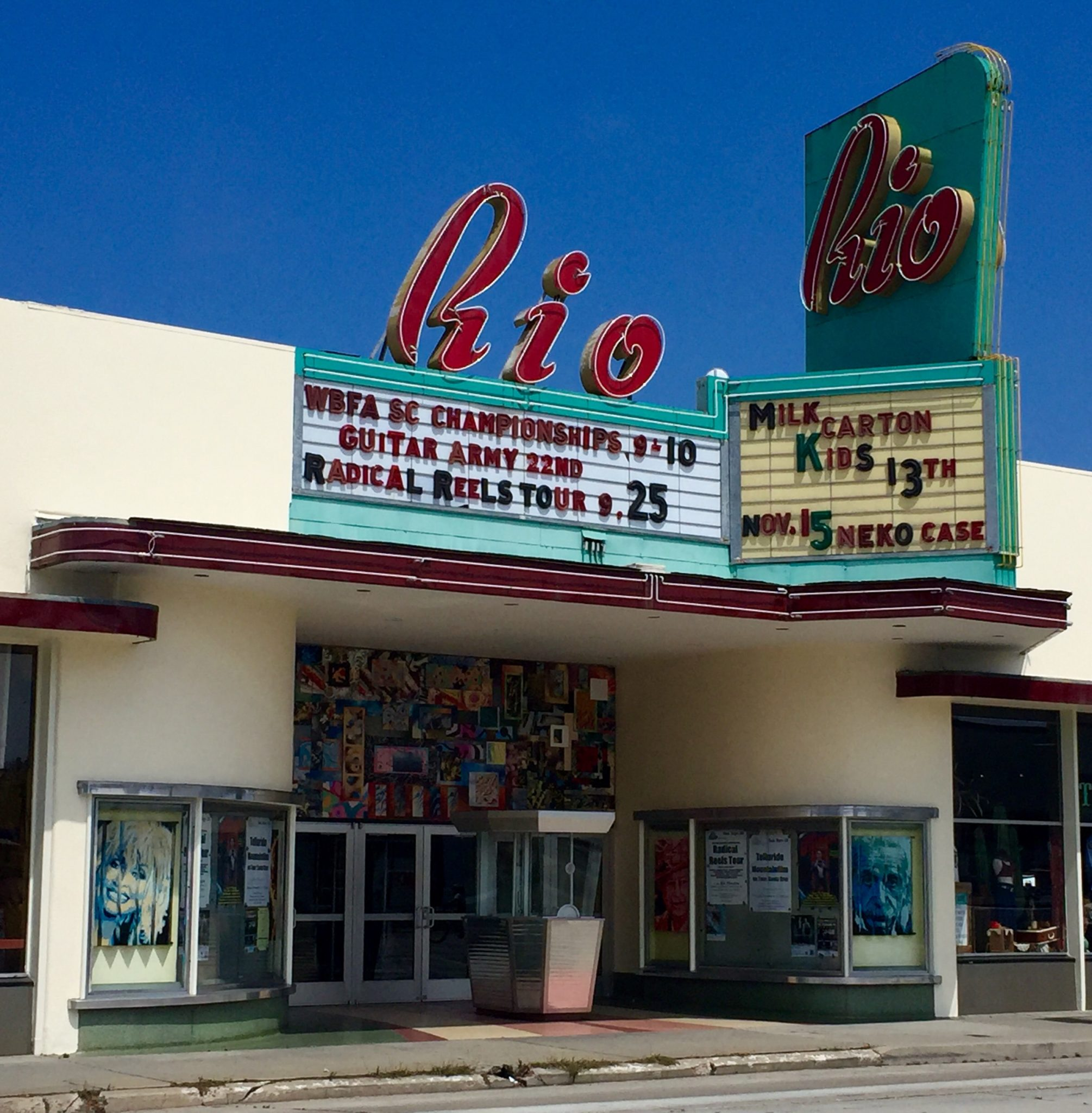 The Rio Theatre on Soquel Avenue.