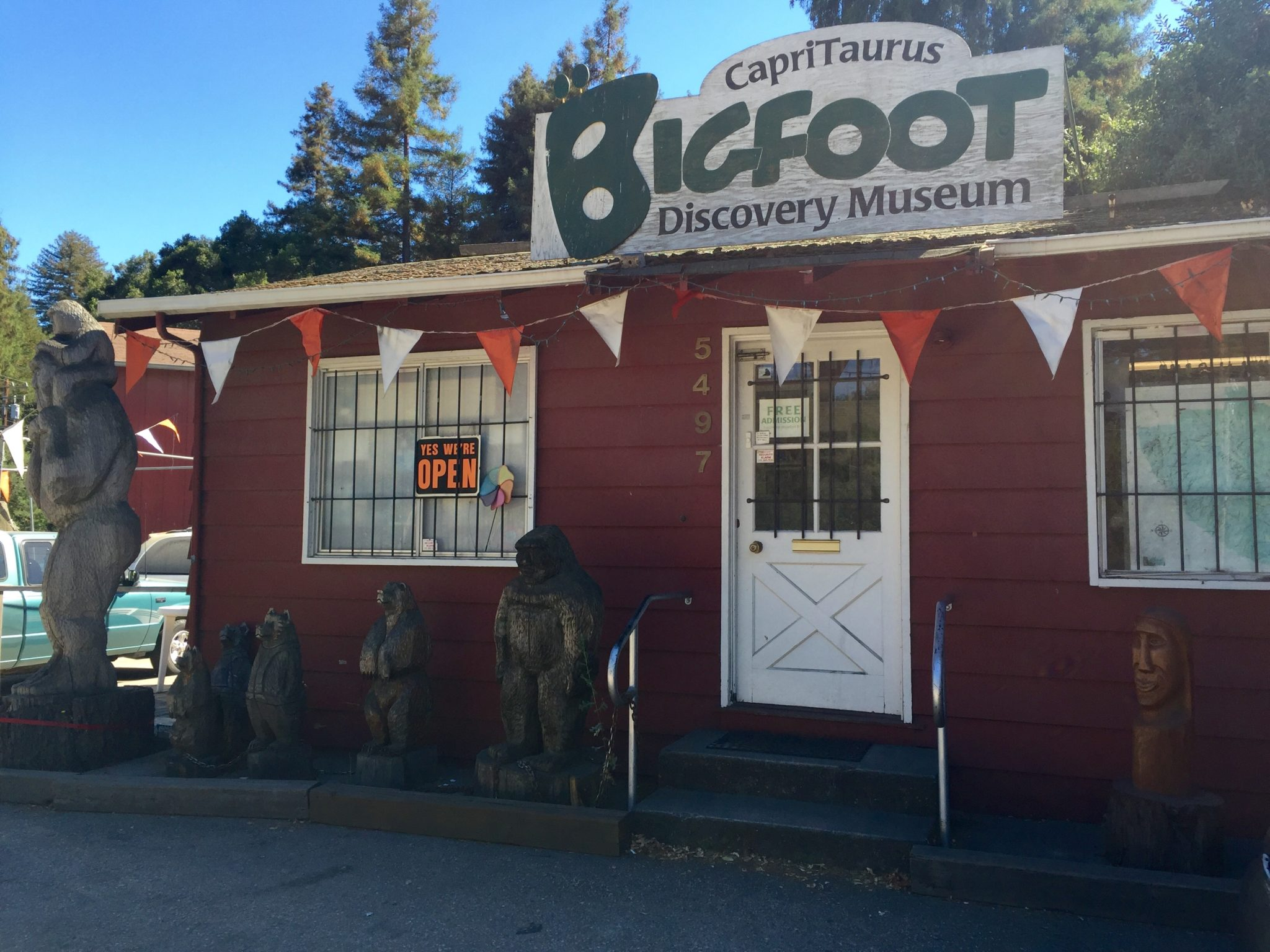 The Bigfoot Discovery Museum in Felton.
