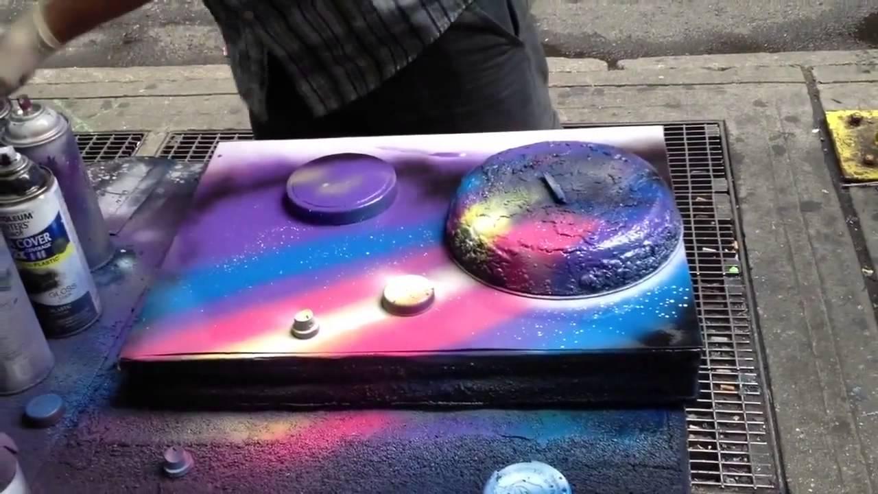 spray paint video