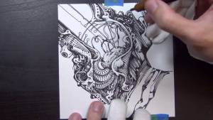 Video: Potato Automaton Time Lapse Drawing