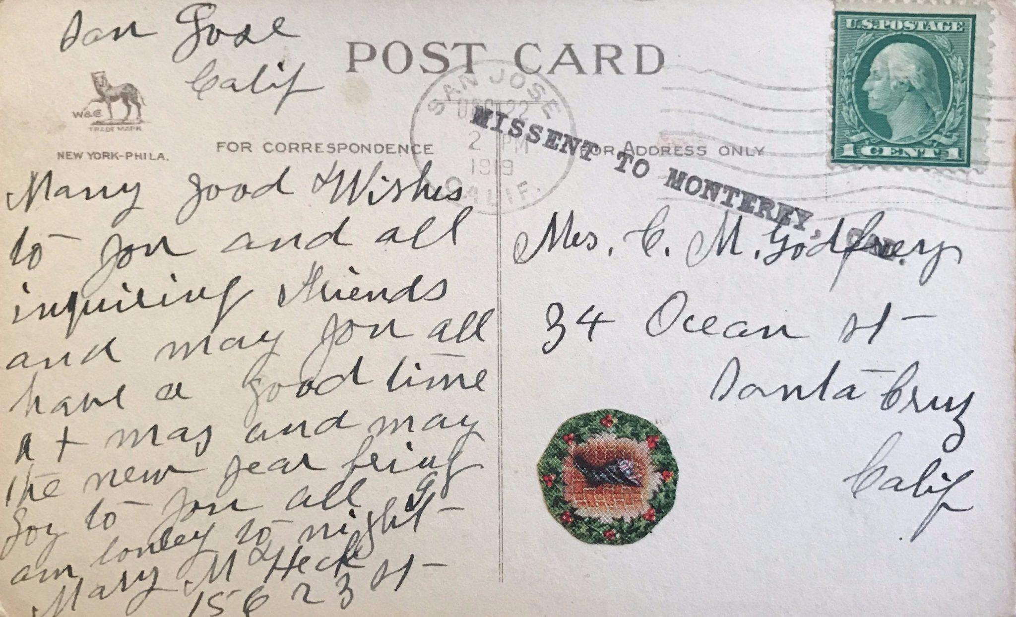 5 Christmas Greetings From The 1910s Local Santa Cruz