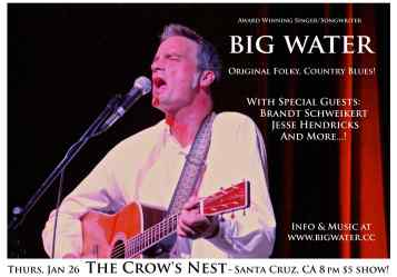 Big Water LIVE at the Crow's Nest