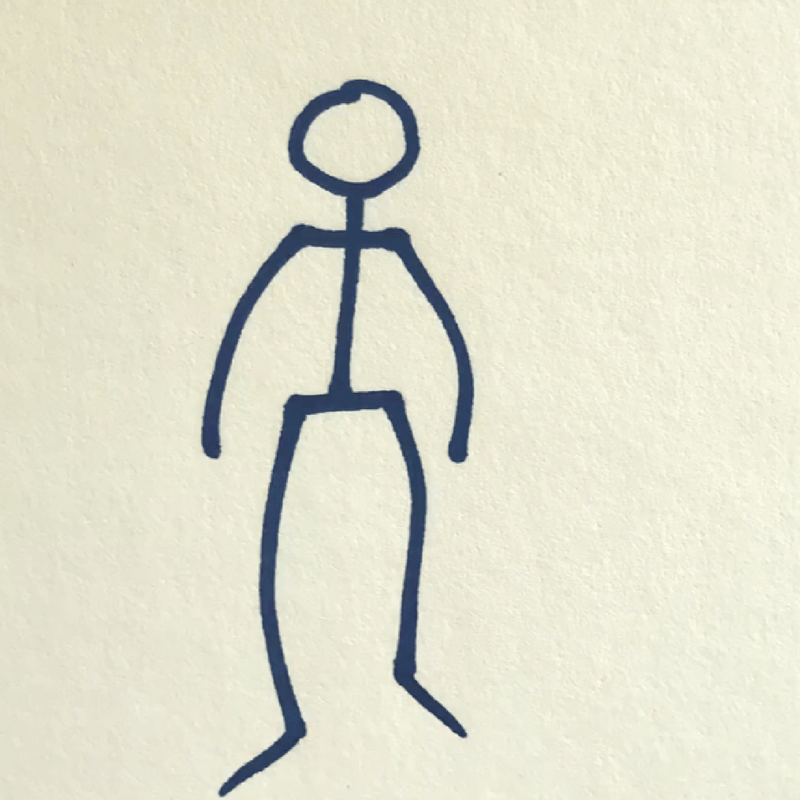 How to Draw a Stick Figure - Step 6