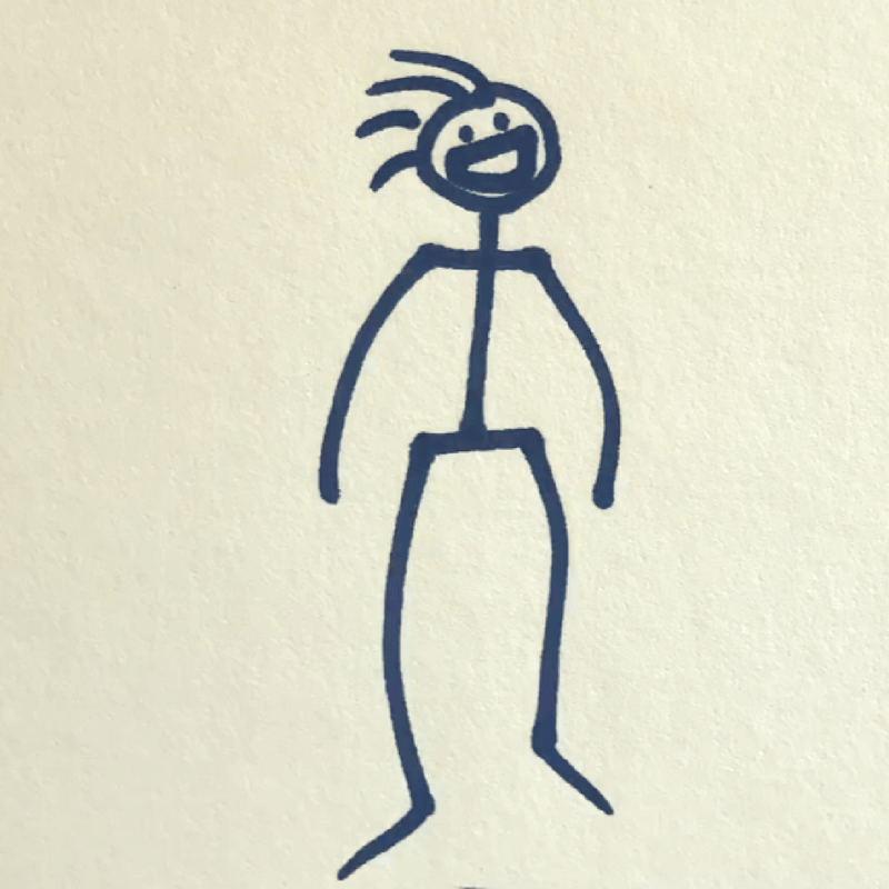 How to Draw a Stick Figure - Step 8