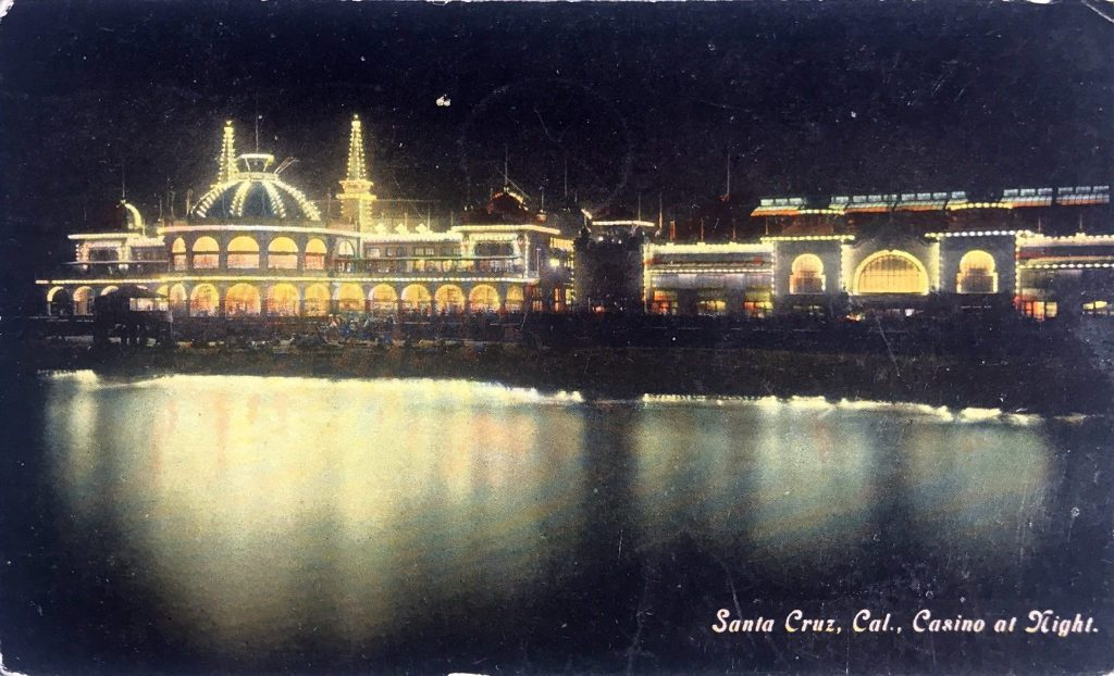 Santa Cruz, Cal., Casino at Night