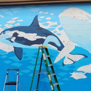 Laurel Bushman - Blue Monterey Bay Mural