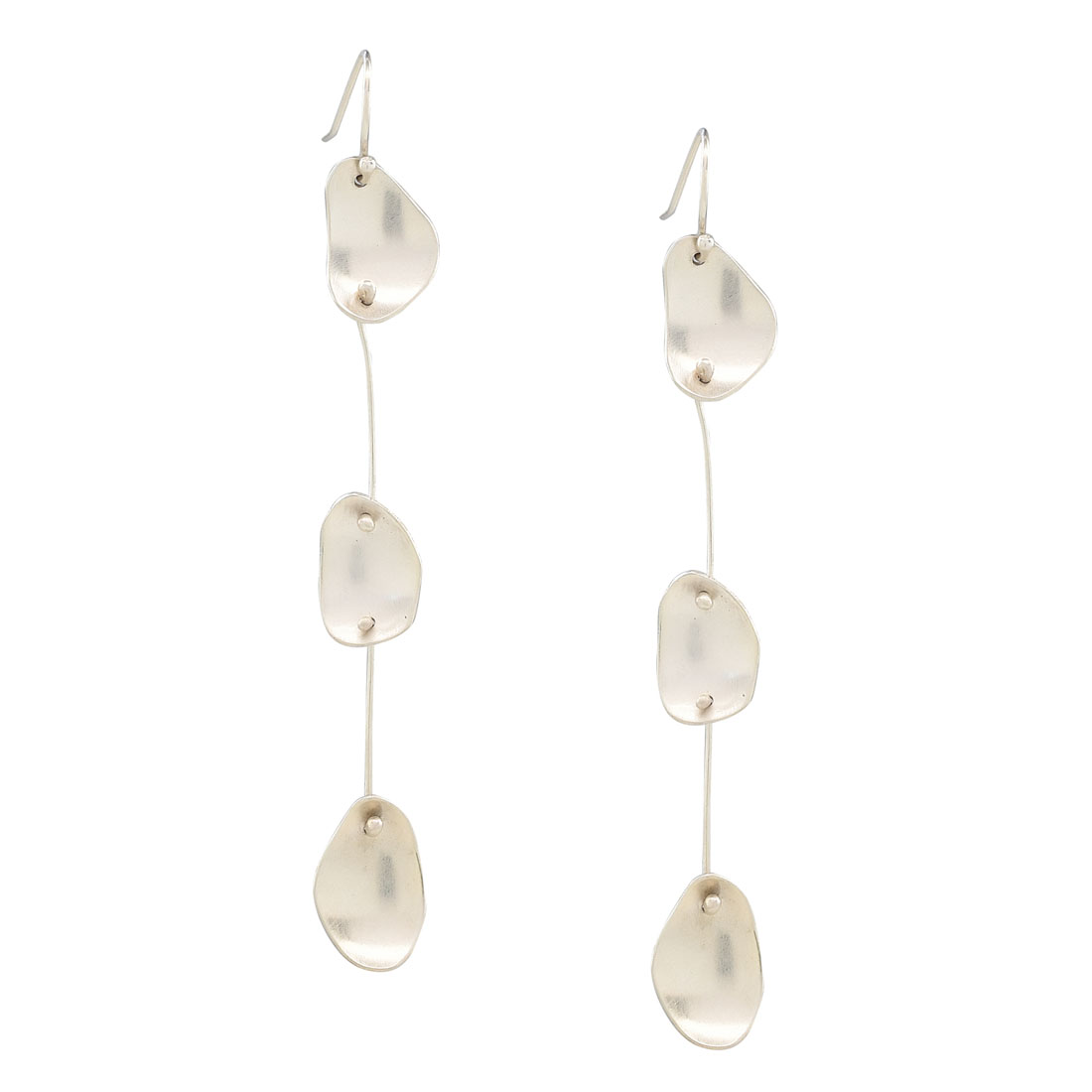 Shelon Bennett - Silver pebbles earrings