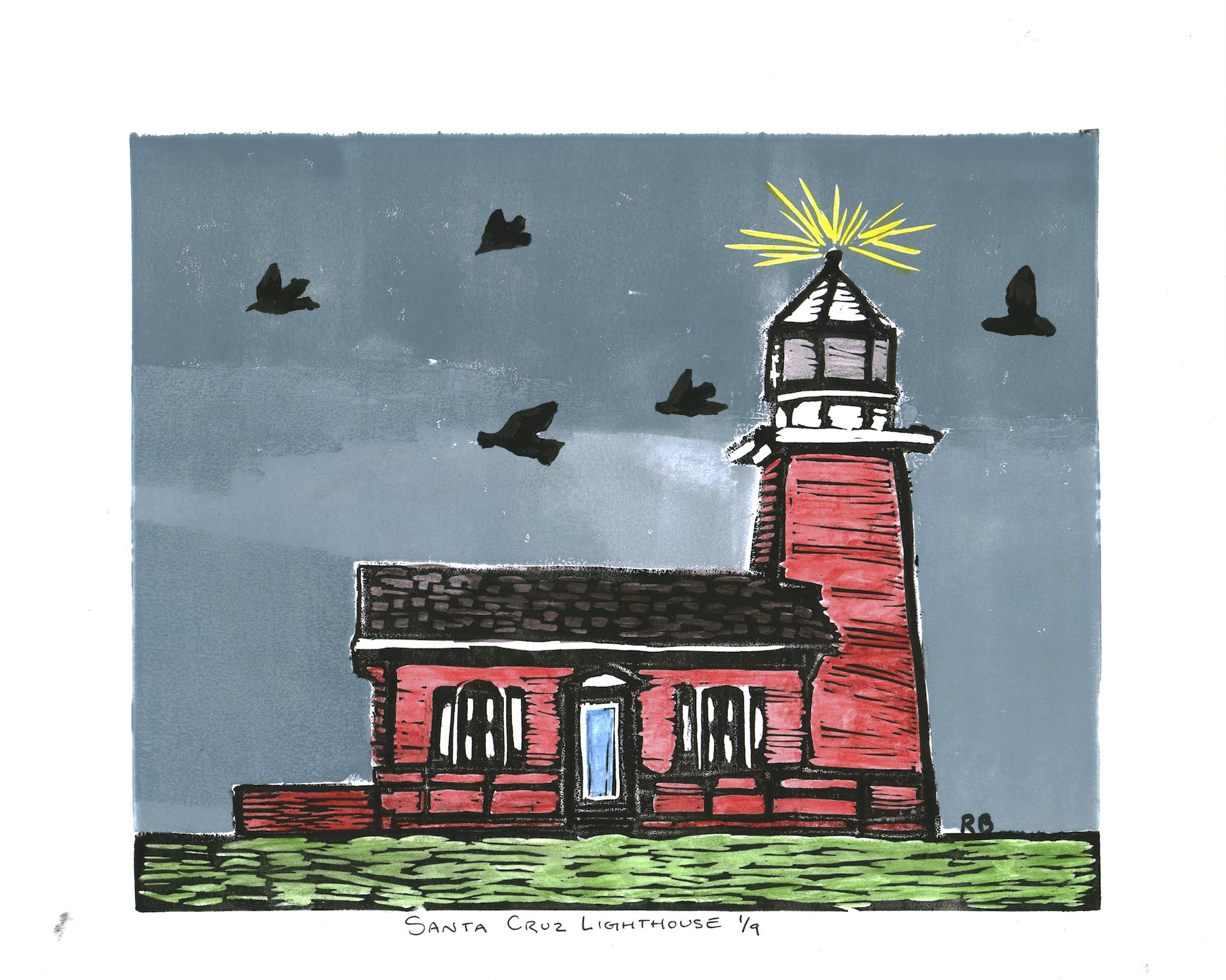 Robin Blake - Santa Cruz Lighthouse 1/9