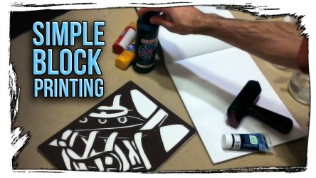 How to Make a Simple Block Print