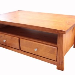 Pine Wood 4 Drawer Coffee Table