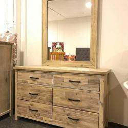 Ballman 6 Drawer Dressing Table with Mirror