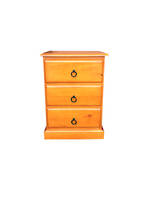 Troy 3 Drawer Bedside Table, Susan 3 Drawer Bedside Table