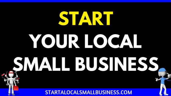 Start a Local Small Business Header