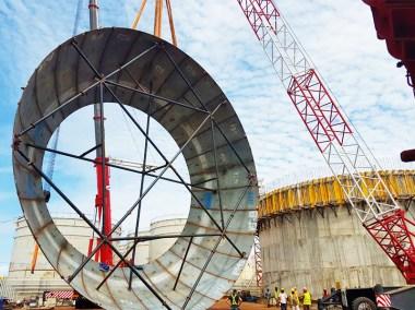 Mise en place d'une sphère à gaz 160 tonnes puma énergie