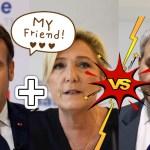 """""""Juste nous deux!"""": selon une rumeur, Emmanuel Macron et Marine Lepen seraient prêts à s'unir dès le premier tour des présidentielles pour faire barrage à Xavier Bertrand"""