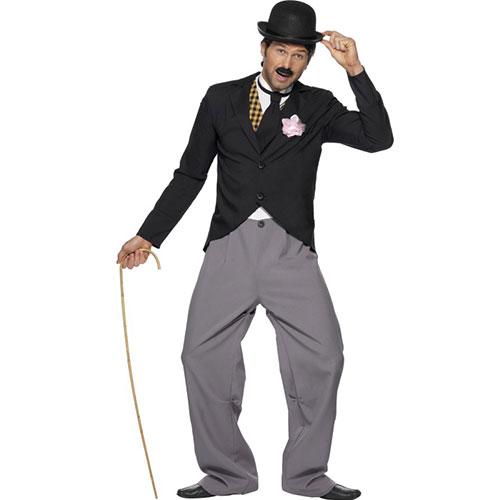Costume homme star années 20 ensemble noir et gris