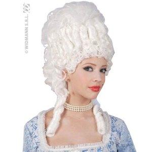 Perruque Marie Antoinette blanche